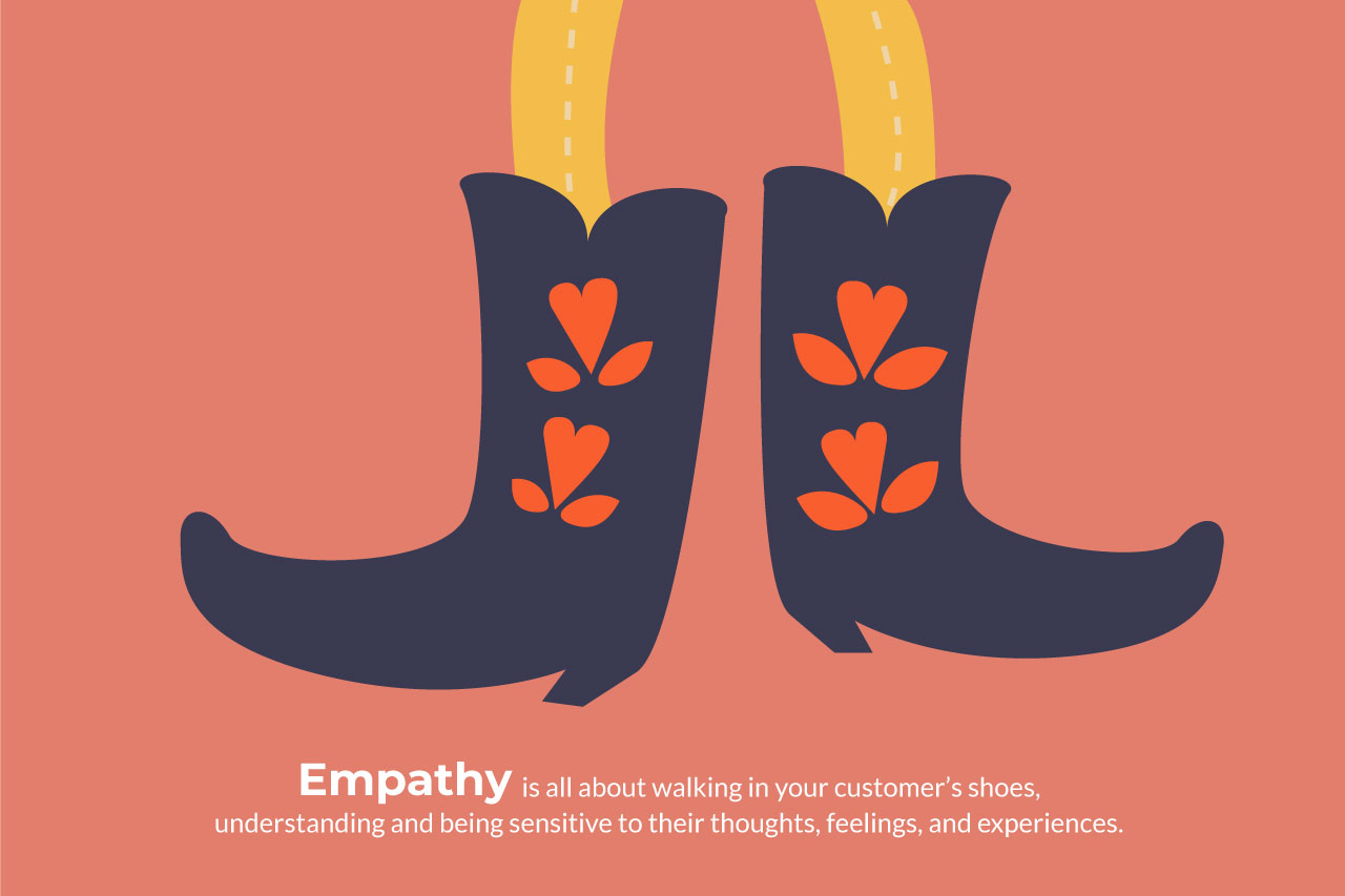 marketing illustration design about empathy